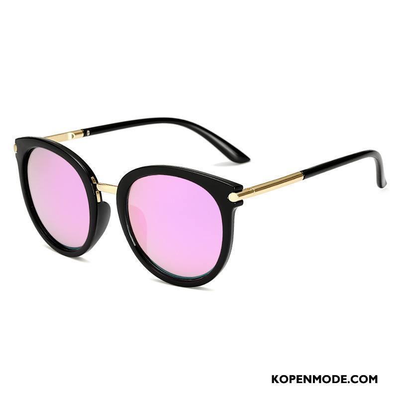 30e0d674467830 Zonnebrillen Dames 2018 Mesh Vintage Trend Rond Gezicht Vrouwen Roze Rood
