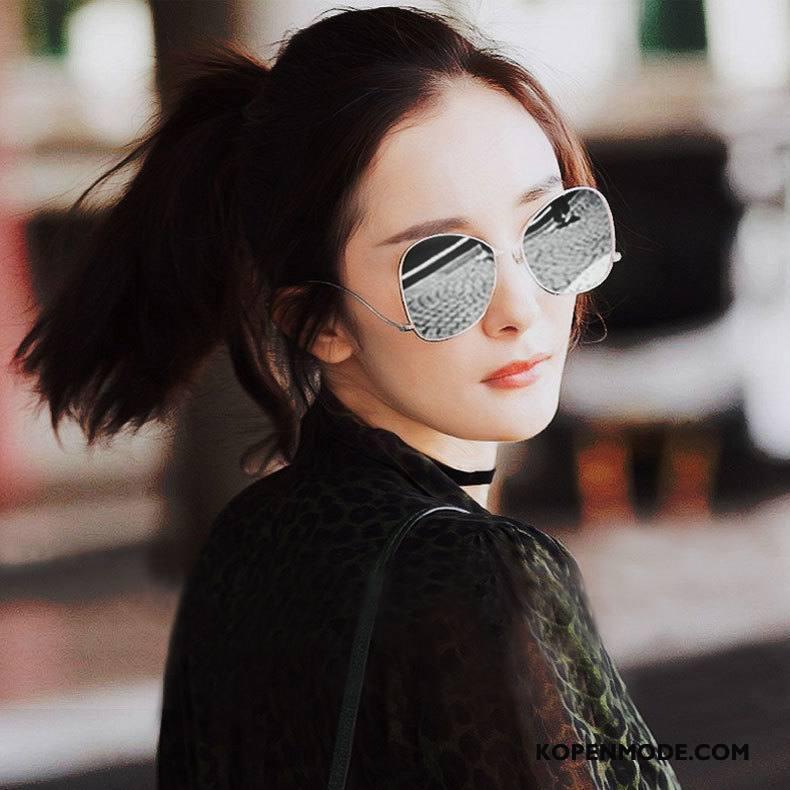 Zonnebrillen Dames Groot Mannen Trend Vintage Vrouwen Grijs Gouden