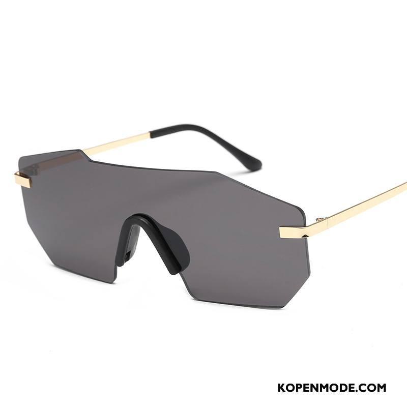 18a7b961620a02 Zonnebrillen Heren Mannen Vintage Trend Mode Autorijden Europa Grijs Goud  Donker