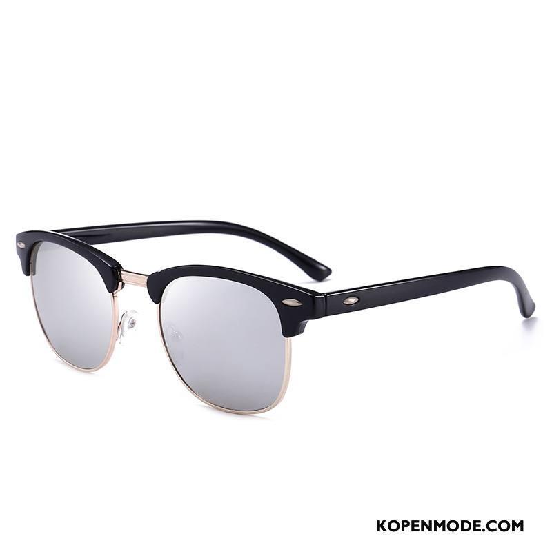 Zonnebrillen Heren Padden Mode Vintage Mannen Klassiek Nieuw Grijs
