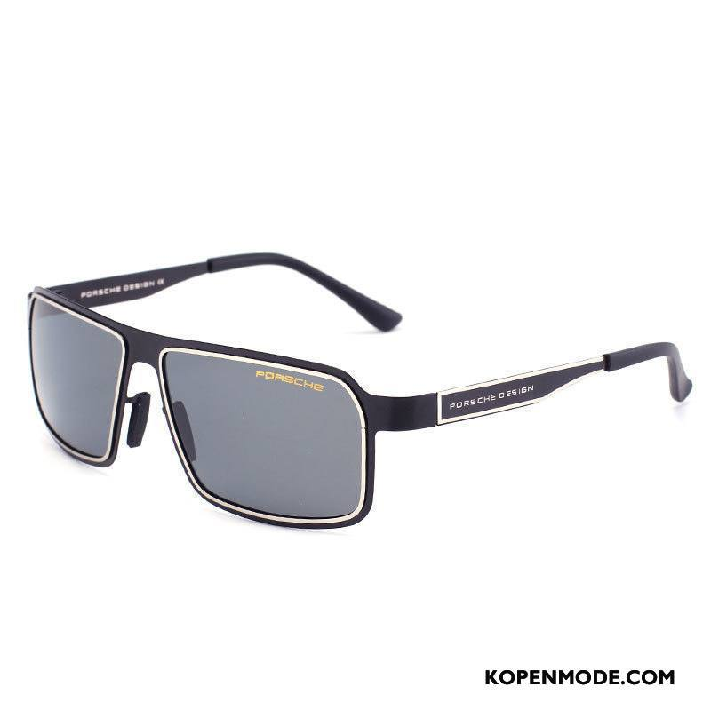 Zonnebrillen Heren Sport Mannen Autorijden Zwart Gouden
