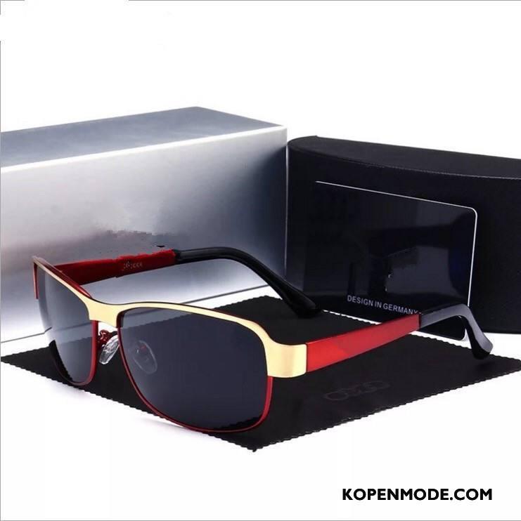 Zonnebrillen Heren Trend Padden Nieuw Mode Autorijden Mannen Rood