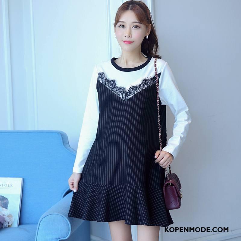 Zwangerschapskleding Dames Straat Eenvoudige Mooi Mode Vers Elegante Zwart